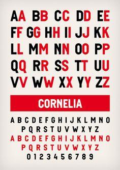 Cornelia typeface designed by www.novotypo.nl