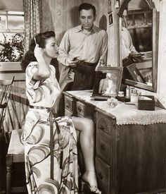 """Ava Gardner and George """"Raft in The Whistle Stop"""" 1946"""