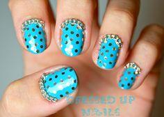 glitter polka dots and chains