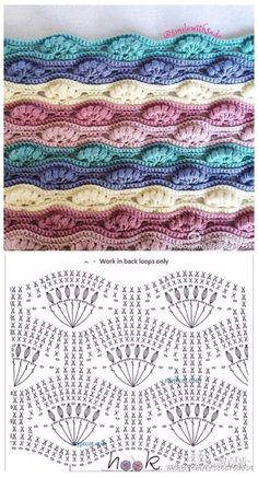 Watch This Video Beauteous Finished Make Crochet Look Like Knitting (the Waistcoat Stitch) Ideas. Amazing Make Crochet Look Like Knitting (the Waistcoat Stitch) Ideas. Crochet Edging Patterns, Crochet Lace Edging, Crochet Motifs, Crochet Diagram, Crochet Chart, Crochet Hooks, Free Crochet, Stitch Patterns, Knitting Patterns