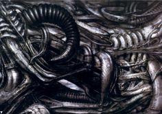Hans Rüdi Giger: Erotomechanics X (Fellatio abstrakt)