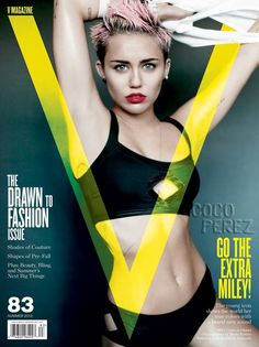 Miley Cyrus gets wild for V Magazines summer issue.