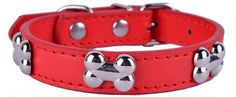 Genuine Leather Dog Bone Collar Variety Of Colors Available