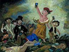 World Press Cartoon 2012 / Blackberry guidant le peuple < !