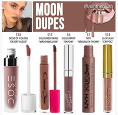 Kylie Cosmetics' newest shade Moon dupes