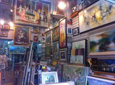 10 Top Risks Of Painting Frame Shop Macaroni Art, Habitat Restore, Retail Store Design, Old Frames, Antique Bottles, Frame Crafts, Original Wallpaper, Acrylic Colors