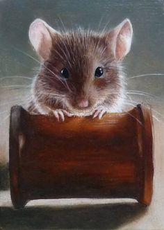 portrait - Mr Jingles by sue warner.     This little mouse was in the 'The Green Mile' He was the cleverest and oldest mouse in the world! and could do lots of tricks, one of them was to retrieve a cotton spool from across the room.