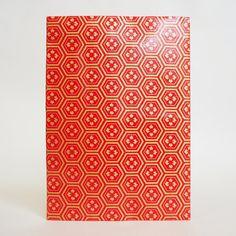 Japanese Yuzen Washi Card Holder - Dark Red Tortoiseshell Diamond Flower Japanese Minimalism, Oyster Card, Travel Cards, Japanese Patterns, Unique Cards, Diamond Flower, Origami Paper, Japanese Culture, Tortoise Shell