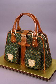 Decorated in fondant, gumpaste and edible images. Stylish Handbags, Lv Handbags, Handbags Online, Louis Vuitton Handbags, Designer Handbags, Louis Vuitton Cake, Louis Vuitton Online, Louis Vuitton Wallet, Louis Voutton
