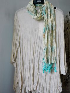 Neslay top with Turquoise Bella scarf
