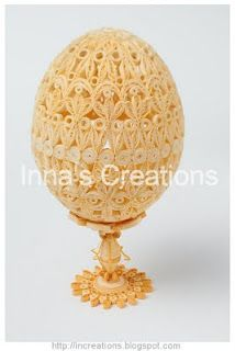Quilled egg - Inna's Creations... this work is so beautiful