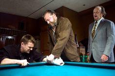 """The Departed"" movie still, 2006.  L to R: Leonardo DiCaprio, Ray Winstone, Jack Nicholson."