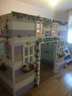 This is a playhouse/loftbed I built for my daughter. It's a twin size bed.