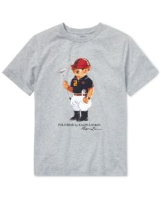 Polo Ralph Lauren Big Boys Polo Bear Cotton T-Shirt - Andover Heather L  (14 16) 67d7702962ae