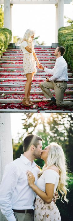 He thought of every detail for the perfect surprise proposal, and we're swooning! Engagement Shots, Engagement Photo Poses, Engagement Cards, Engagement Photo Inspiration, Engagement Couple, Engagement Pictures, Engagement Photography, Wedding Photography, Engagement Ideas