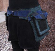 Sing the Blues - Saddlebag style - Festival Pocket Belt - Utility belt. $158.00, via Etsy.