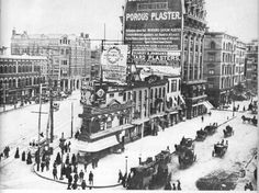 23rd & Fifth Avenue before the Flatiron Building, 1884.