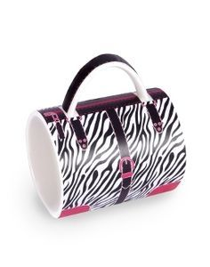 Our all-new Handbag Mug Collection features your favorite designer patterns, except these purses won't break the bank! Featuring the bold aesthetic of a zebra and hot pink print, this mug is sure to become your favorite new accessory!  $11.95