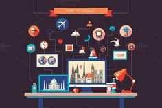 Time To Travel Illustration @creativework247