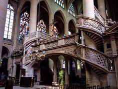 Detalle Jubé de la Iglesia de Saint-Etienne-du-Mont (Paris - France)