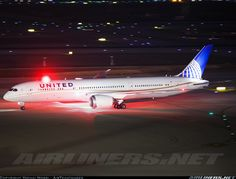 United Airlines Boeing 787-9 N26960 c/n 36408 Ben Gurion Airport April 2016 Photo by: Yochai Mossi - AirTeamImages United 954 Heavy seen taxiing in on Mike after arriving from SFO, local time 20:22.