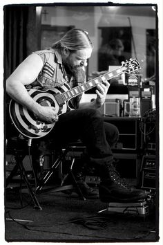 Zakk Wylde and His Guitar