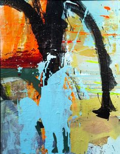 """Chuck Hipsher; """"COLLATERAL BEAUTY 7"""" 28""""x 22"""""""