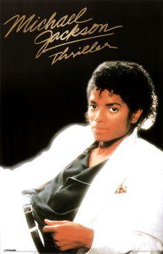 Michael Jackson Thriller 80s Music Poster Print