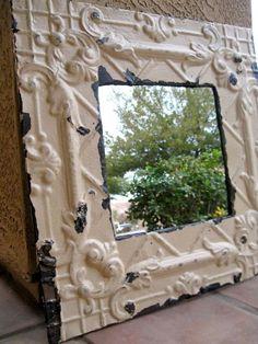 Dishfunctional Designs: Embossed Tin Ceiling Tiles: Recycled & Repurposed