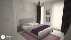 Bedroom design by Anita Ilie Casa Patrata Bedroom Ideas, Interior Design, Projects, Furniture, Home Decor, Houses, Nest Design, Log Projects, Blue Prints