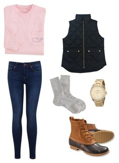"""EDSFTG"" by zoeantonpeat ❤ liked on Polyvore featuring Miss Selfridge, L.L.Bean, Pantherella, J.Crew, FOSSIL, Winter, preppy, Prep and southernprep"