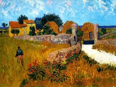 "missfolly: "" Farmhouse in Provence, 1888, by Vincent van Gogh """