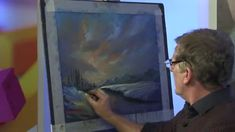 Water Reflections and Snow in Pastel with Les Darlow