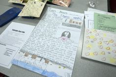 This is an example of a newspaper book report project that a student competed about the Titanic.