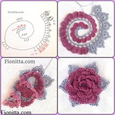 Flower pattern №1       Flower pattern №2  Flower pattern №3    Flower pattern №4      You can find more step by step here: Crochet flowers 2