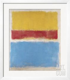 Untitled (Yellow, Red and Blue), c.1953 Framed Art Print by Mark Rothko at…