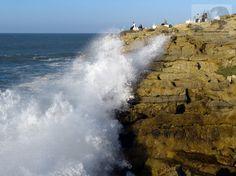 Marejada en Gijón, en el Canto los Fuxíos #olas #turismo #asturias #mar