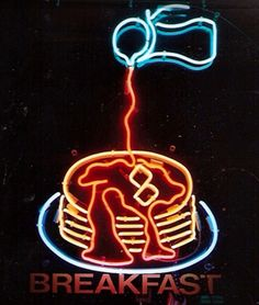 Neon pancakes by neon4all via Flickr... I am ready for breakfast I guess