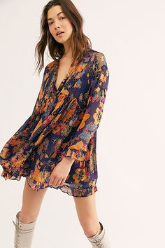 30 Everyday Dresses to Wear at Home This Summer Outfit Sets, Free People Clothing, Free People Dress, Sheer Chiffon, Floral Chiffon, Emo Dresses, Casual Dresses, Party Dresses, Amigurumi