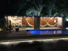 Building A Container Home, Container Buildings, Container Architecture, Container Bar, Container Design, Bungalows, Shipping Container Pool, Backyard Retreat, Back Patio