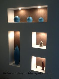 Best 50 modern wall niches designs for wall decoration Niche Design, Tv Wall Design, Ceiling Design, House Design, Interior Walls, Home Interior Design, Interior Decorating, Plafond Design, Room Partition Designs