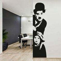 """Charles Chaplin"" wall sticker"