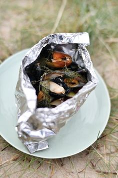 Fish Recipes, Great Recipes, Favorite Recipes, Healthy Recipes, Clams Seafood, Fish And Seafood, Cobb Bbq, Mussels, Tapas