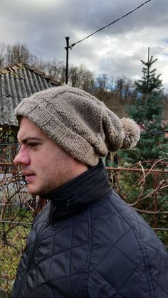 Check out this item in my Etsy shop https://www.etsy.com/listing/258809752/men-nude-tassel-beanie-hat-men-slouchy