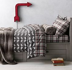 big boy bedding for outdoor theme moose flannel u0026 lodge plaid bedding collection