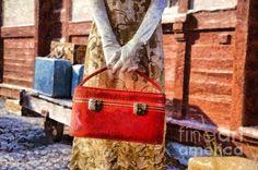 The Woman on Platform 8 - fine art by Edward M. Fielding - www.edwardfielding.com