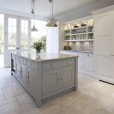 Stunning Gray Kitchens Kitchens Pinterest Gray Kitchens - Light gray kitchen island