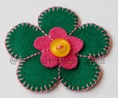 Flor Verde y Rosa