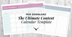 When it Comes to Social Media, Having a Game Plan Makes All The Difference. Download the content calendar template for free!