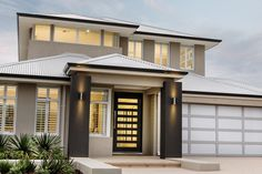 The Appella © Ben Trager Homes | Perth Display Home | Home Facade Entry